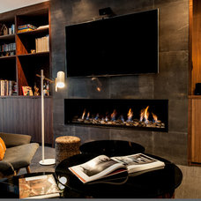 Contemporary Home Theater by AJ Barker Design