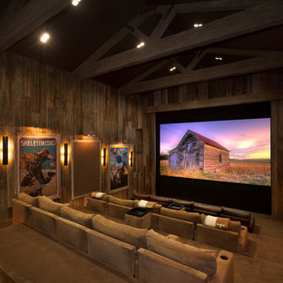 Vaulted Ceiling. Home Theater Ideas & Photos | Houzz