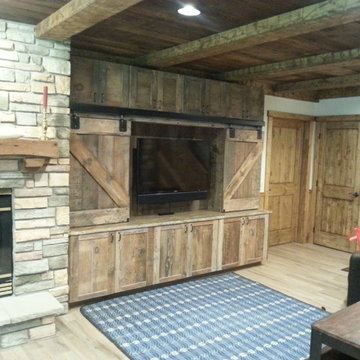 Rustic Home Theater Cabinet (OPEN)