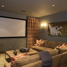 Rustic Home Theater Rustic Living Room