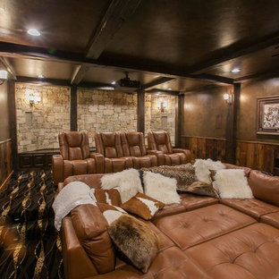 Mountain style home theater photo in Other