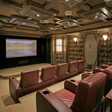 Traditional Home Theater by Commorata & Berardi