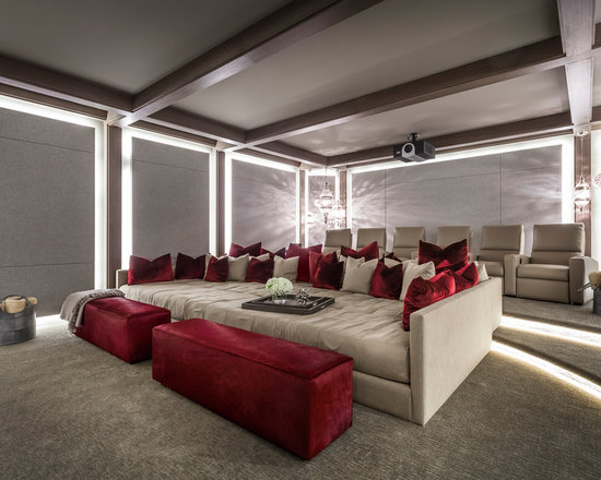Modern Living Room Home Theater home theater design ideas, remodels & photos | houzz