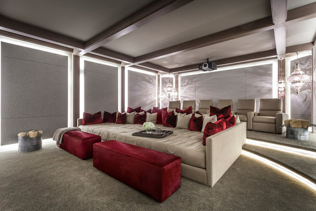 Contemporary Home Theater by SoJo design