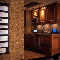 Traditional Home Theater by Charter Construction