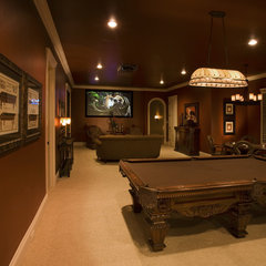 traditional media room by Sam Allen Custom Home Design
