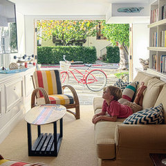eclectic media room by Alex Amend Photography