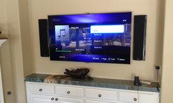 San Diego surround sound installation featuring Definitive Technology, Samsung L