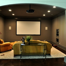Contemporary Home Theater by Direct Build Home Improvement & More