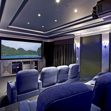 Eclectic Home Theater by VIA - Santa Barbara
