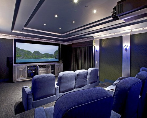Best Home Theater Screen Paint Design Ideas & Remodel Pictures | Houzz