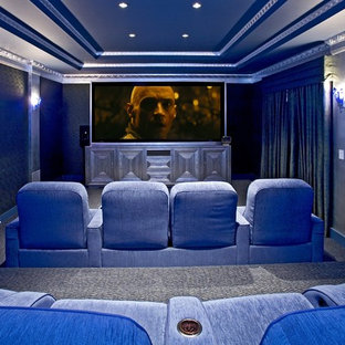 Home theater - eclectic home theater idea in Los Angeles