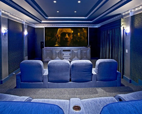 Eclectic Home Theater Idea In Los Angeles