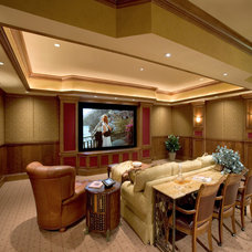 Traditional Home Theater by Sater Design Collection, Inc.