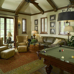 traditional media room by Golden Isles Custom Homes, LLC