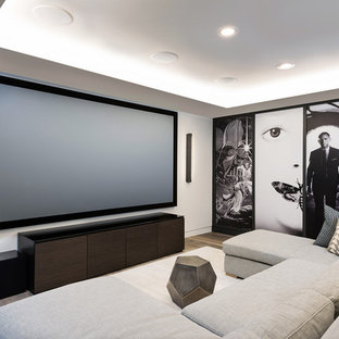 75 Beautiful Dark Wood Floor Home Theater Pictures Ideas February 2021 Houzz