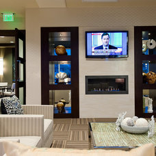 Contemporary Home Theater by TRIO Environments