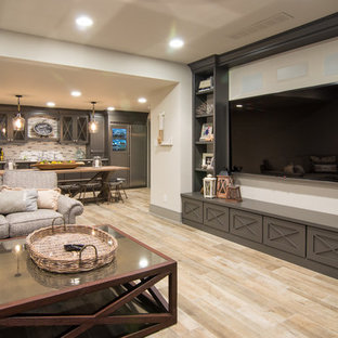 Shabby-chic Style Home Theater