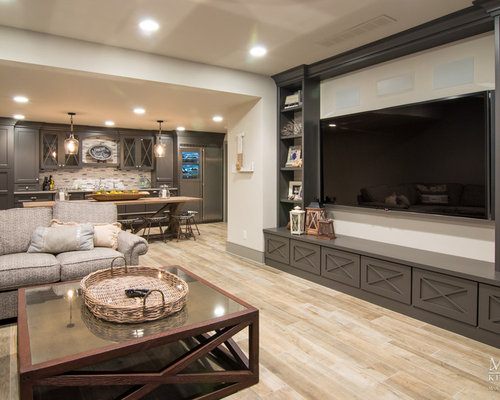 Shabby Chic Style Basement Design Ideas Pictures Remodel