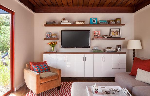 Midcentury Home Theater by BK Interior Design