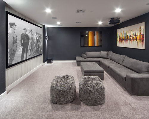Living Room Home Theater Design home theater ideas & design photos | houzz