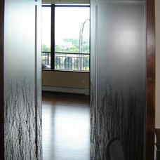 Contemporary Home Theater Shoji Door, Barn Door, Sliding Door
