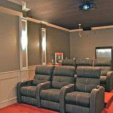 Traditional Home Theater by Scott Daves Construction Co., Inc