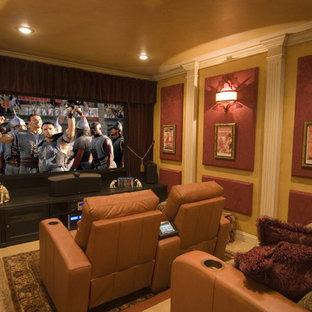 Trendy home theater photo in DC Metro