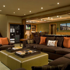 Contemporary Home Theater by AMBIANCE SYSTEMS