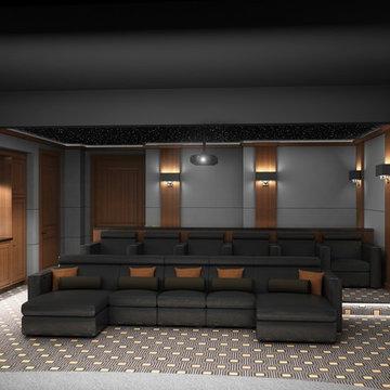 Sleek & Contemporary Custom Theatre