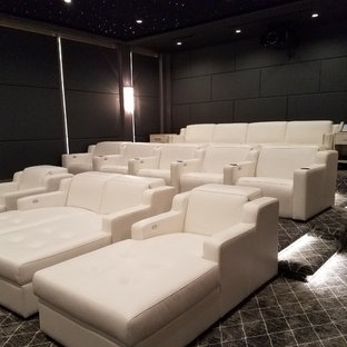 Inspiration for a home theater remodel in New York