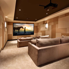 Contemporary Home Theater by Brandon Architects, Inc.