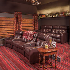 Traditional Home Theater by By Design Interiors, Inc