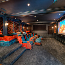 Traditional Home Theater by Solaris Inc.