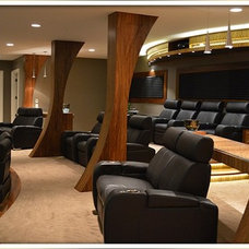Contemporary Home Theater by The #1 Finishguy LLC