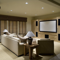 Traditional Home Theater by Ronda Divers Interiors, Inc.