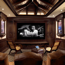 Eclectic Home Theater by Pinto Designs and Associates