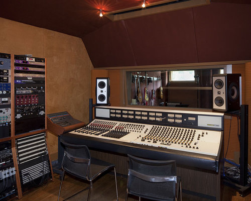 recording studio houzz. Black Bedroom Furniture Sets. Home Design Ideas