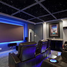 Contemporary Home Theater by Zuri Custom Homes & Renovations