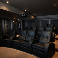 Modern Home Theater by Station Earth