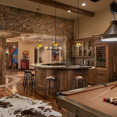 Traditional Home Theater by Calvis Wyant Luxury Homes