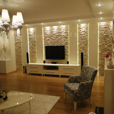 Contemporary Home Theater by concept marble
