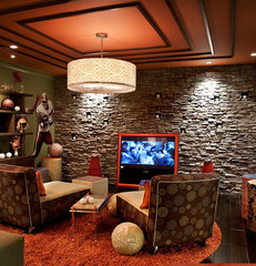 eclectic media room by Designing Solutions