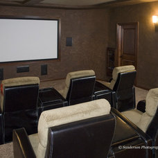Traditional Home Theater by Radue Homes Inc.