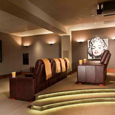 Contemporary Home Theater by Charles Cunniffe Architects Aspen