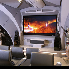 modern media room by Modern Home Theatre