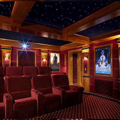Elegant home theater photo in New York
