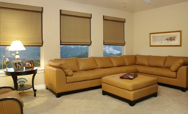 Contemporary Home Theater by Greg Logsdon