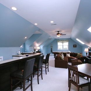 Inspiration for a timeless enclosed home theater remodel in Charlotte