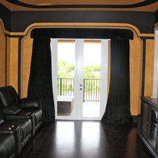 Traditional Home Theater by Edgewater Design LLC